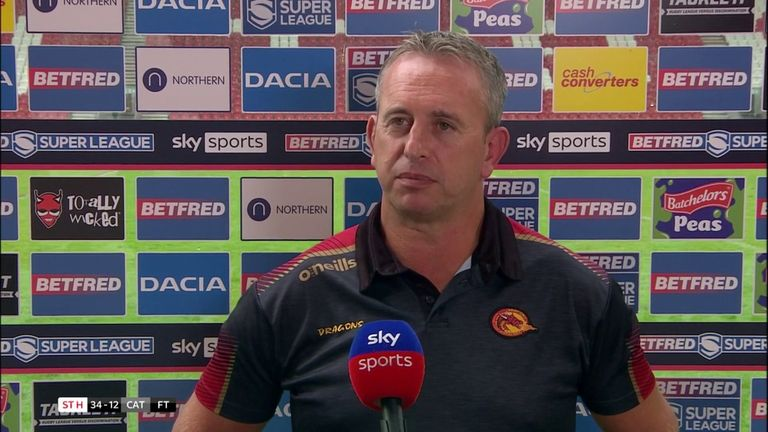Catalan Dragons coach Steve McNamara was pleased how his side showed character in defeat