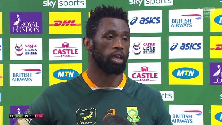 Siya Kolisi was delighted with the series win over the British and Irish Lions and hopes that the victory will lift the South African people in a difficult time for the country