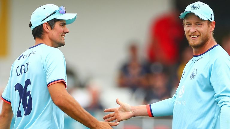 Alastair Cook (77) and Tom Westley (69) shared a century stand as Essex beat Kent in the One-Day Cup