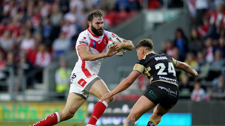 St Helens prop Alex Walmsley will pose a big threat to Leeds on Friday