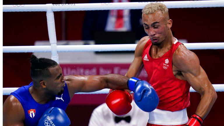 Ben Whittaker lost to Cuba's Arlen Lopez in the men's light-heavyweight gold medal match