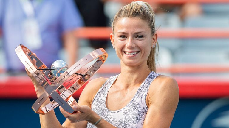 Camila Giorgi secured a surprise victory at the Omnium Banque Nationale tournament in Montreal (Graham Hughes/The Canadian Press via AP)
