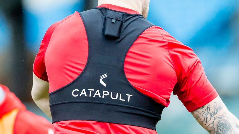 Catapult's GPS tracker will help deliver real-time statistics to Sky Sports viewers