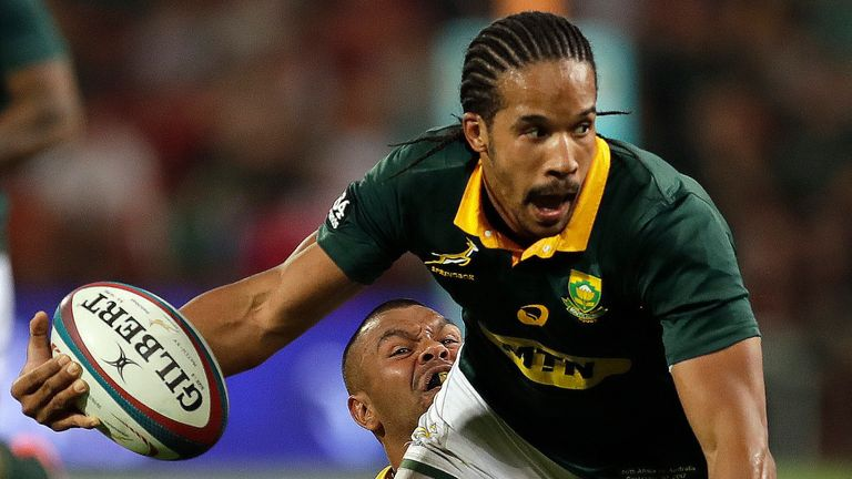 Courtnall Skosan has played 12 times for the Springboks