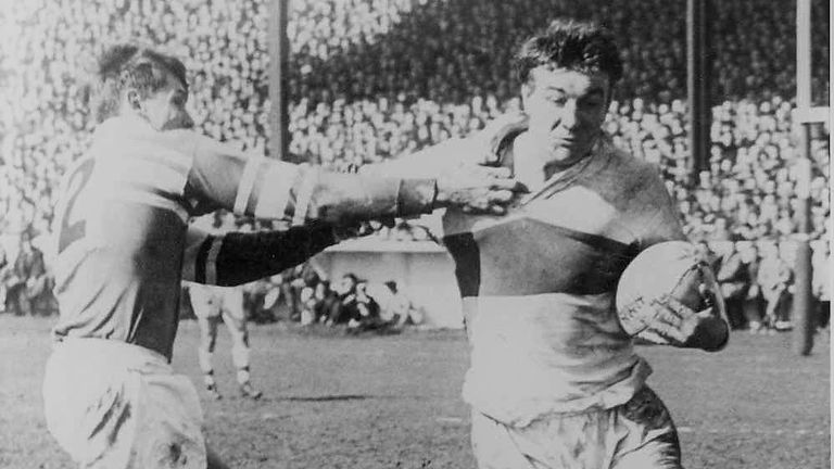 St Helens paid a record fee for a forward in 1958 (£7,500) to sign Huddart from Whitehaven (photo courtesy of Saints Heritage Society)