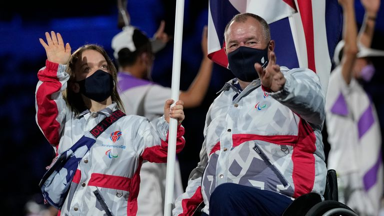 John Stubbs was one of Great Britain's flag bearers at the opening ceremony alongside Ellie Simmonds