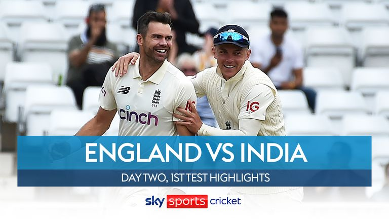 Highlights of day two of the first Test between England and India at Trent Bridge