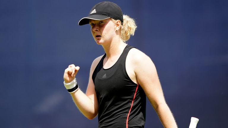 Francesca Jones won her opening qualifying match at the US Open