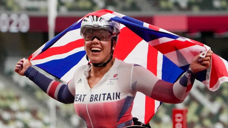 Hannah Cockroft won gold in the first of her two events at this Paralympic Games