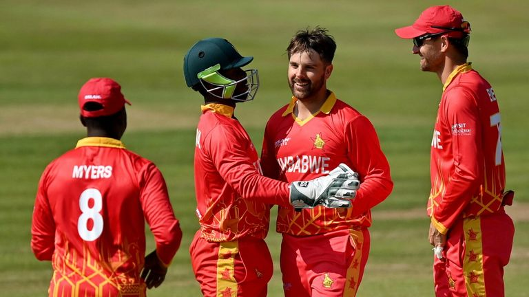 Zimbabwe successfully defended a total of 117-7 to take a 1-0 lead over Ireland in the five-match T20 series