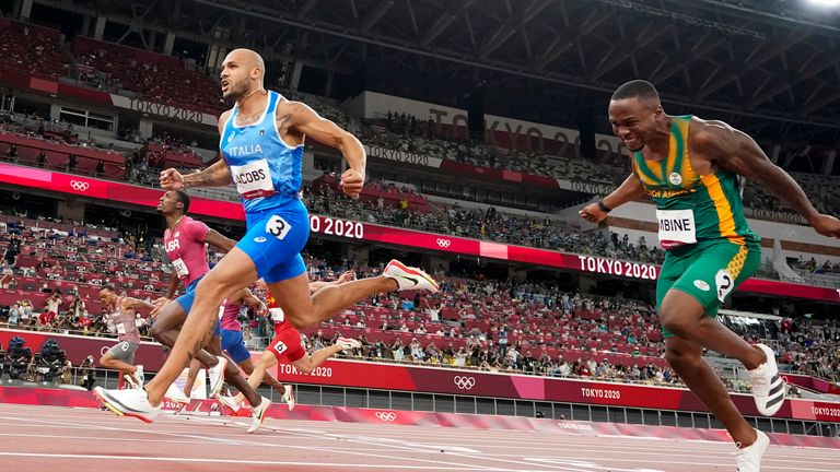 Lamont Marcell Jacobs had never run under 10 seconds for 100m until this year
