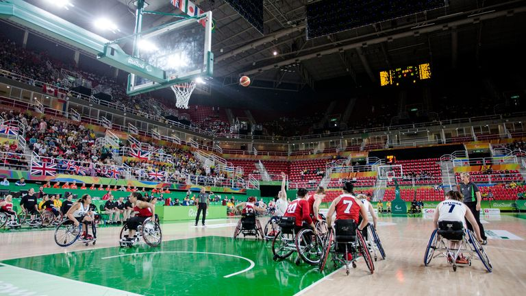 Williams in action for ParalympicsGB against Canada at the Rio Games five years ago (image: onEdition)