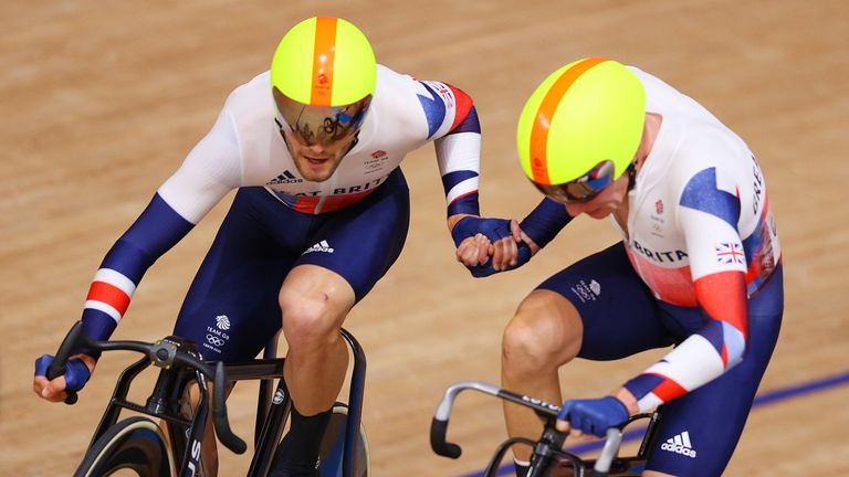 Team GB's men successfully navigated 200 laps of the track