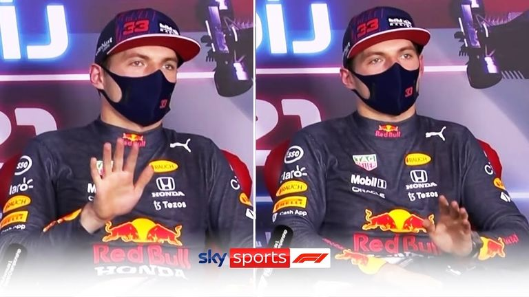A frustrated Max Verstappen stopped a question about the possibility of a wheel-to-wheel situation with Lewis Hamilton in Sunday's Hungarian GP