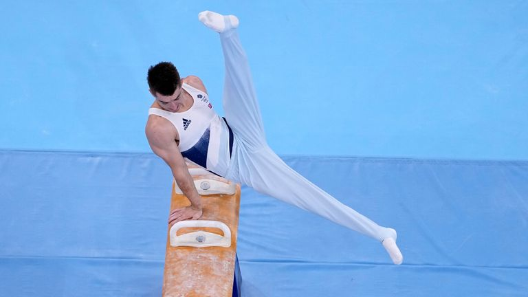 Max Whitlock produced a superb score of 15.583 in the final