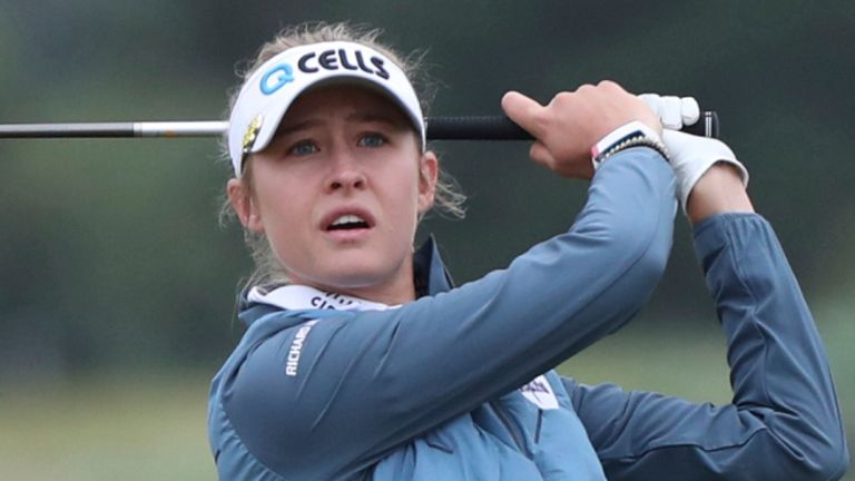 Nelly Korda is three off the pace after a 73