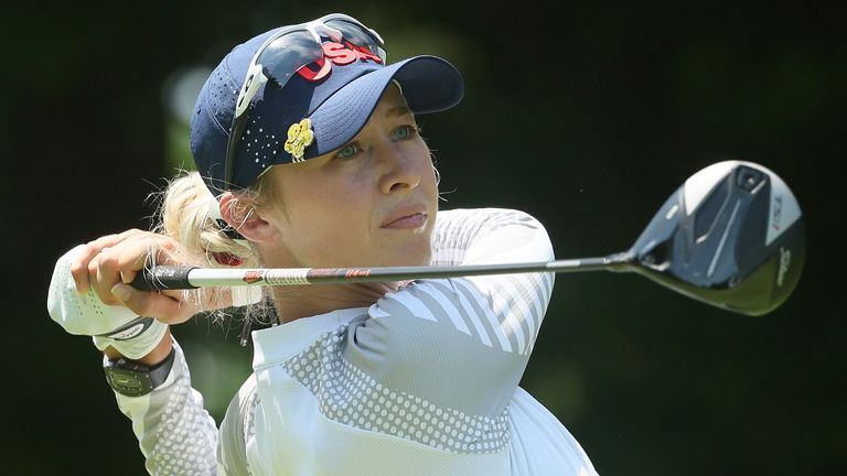 Nelly Korda will take a three-shot lead into the final round in Tokyo