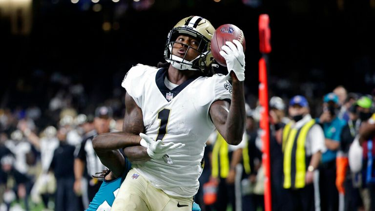 Check out this one-handed touchdown catch from New Orleans Saints wide receiver Marquez Callaway
