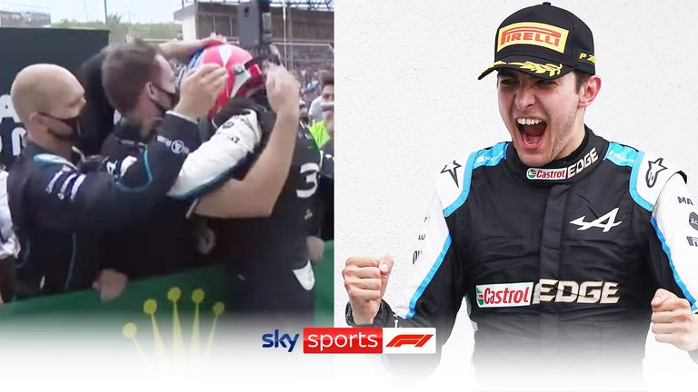 Esteban Ocon described his first-ever Formula 1 win as a special moment for himself and the team.