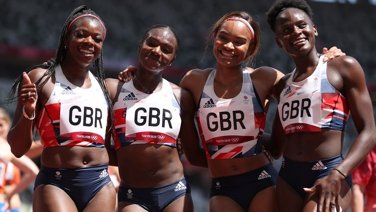 The team set a new British record in the heat and safely moved into Friday's final