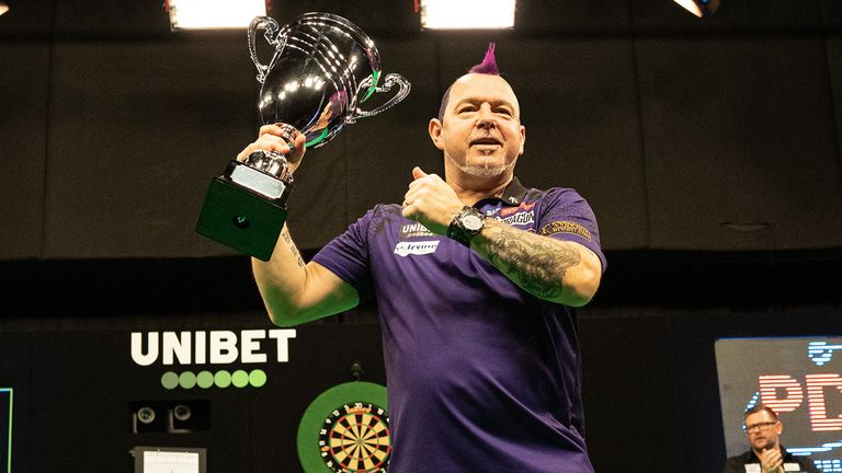 Peter Wright is the reigning European champion (Picture courtesy of Lawrence Lustig/PDC)