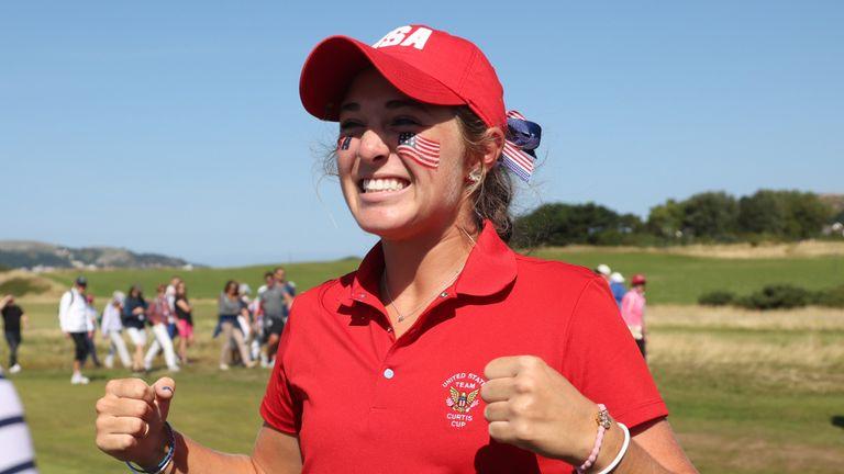 Rachel Kuehn earned the winning point for Team USA