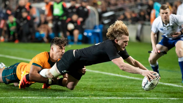 New Zealand racked up a record score against Australia to retain the Bledisloe Cup