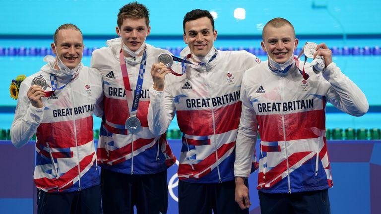 Luke Greenbank, Adam Peaty, James Guy and Scott took silver in the men's 4x100 metres medley relay final