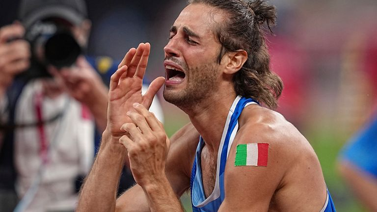 Tamberi is emotional five years after a broken ankle denied him the chance to compete in Brazil