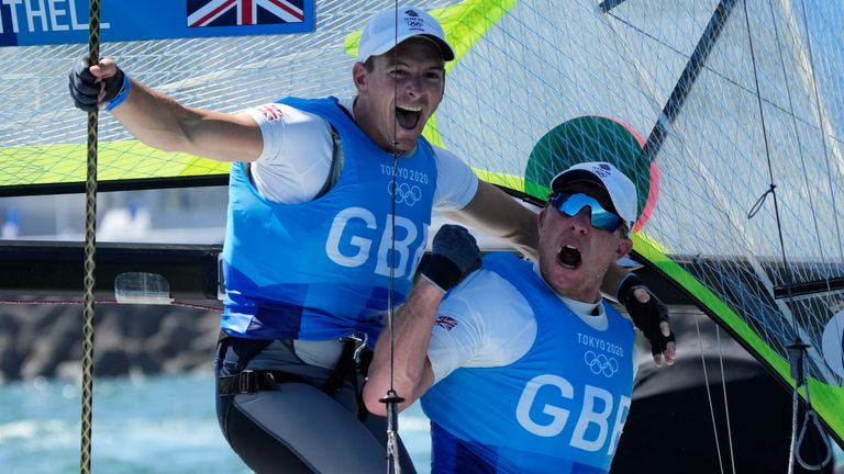 Dylan Fletcher and Stuart Bithell celebrate their win