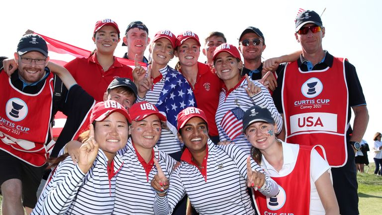 Team USA retained the Curtis Cup in Conwy