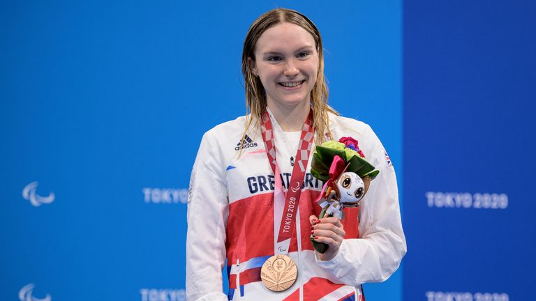 Teenager Toni Shaw won a bronze medal on her Paralympic Games debut