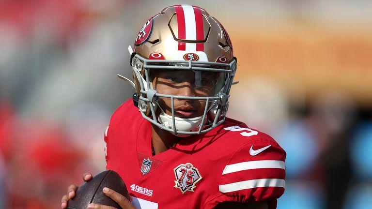 San Francisco 49ers quarterback Trey Lance. (AP Photo/Jed Jacobsohn)