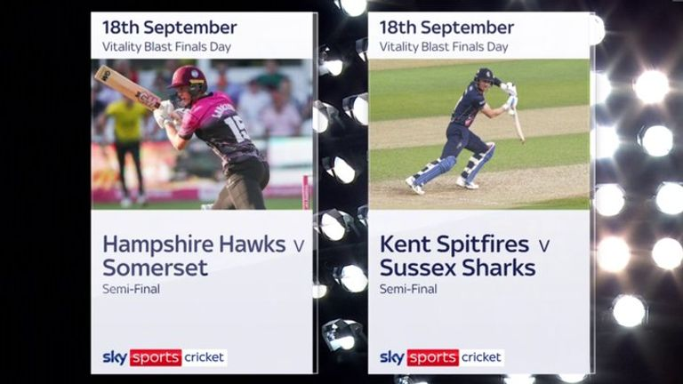 Mark Butcher and Rob Key assess the sides to have reached Vitality Blast Finals Day - Sussex, Hampshire, Somerset and Kent