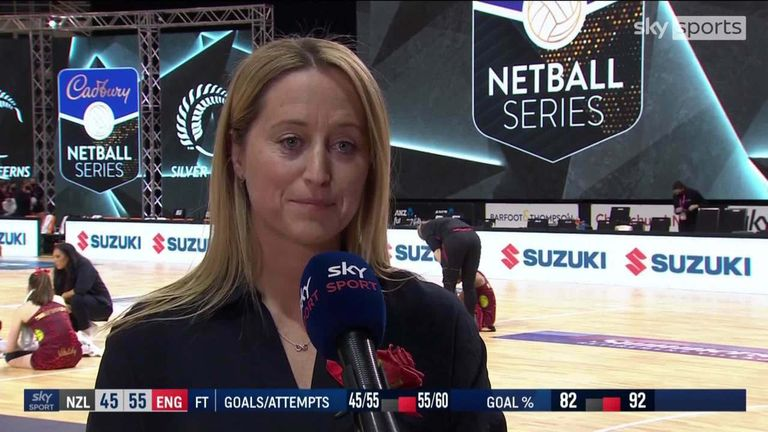 England coach Jess Thirlby was pleased to see her side enjoy their second-half performance as they levelled the three-game series against New Zealand