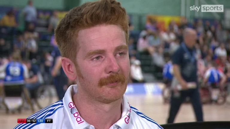 Leeds Rhinos captain James Simpson gave an emotional interview after leading his side to victory in the 2021 Wheelchair Super League Grand Final, defeating Leyland Warriors 52-36
