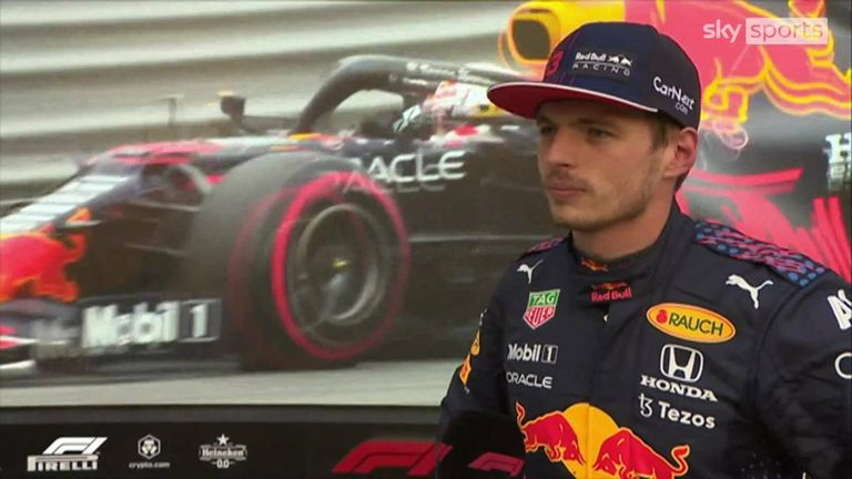 Valtteri Bottas, Lewis Hamilton and Max Verstappen talk after qualifying of the Italian GP