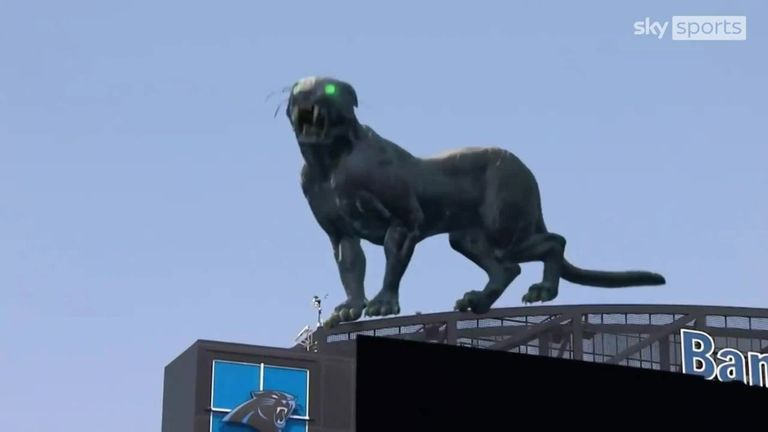 Ahead of the new NFL season, Carolina debuted what they called a 'mixed reality' panther, which roamed around the Bank of America Stadium