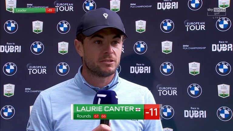 A 'solid' golf performance aided by an 'extra level of patience' paid off for Laurie Canter as he moved to 11 under