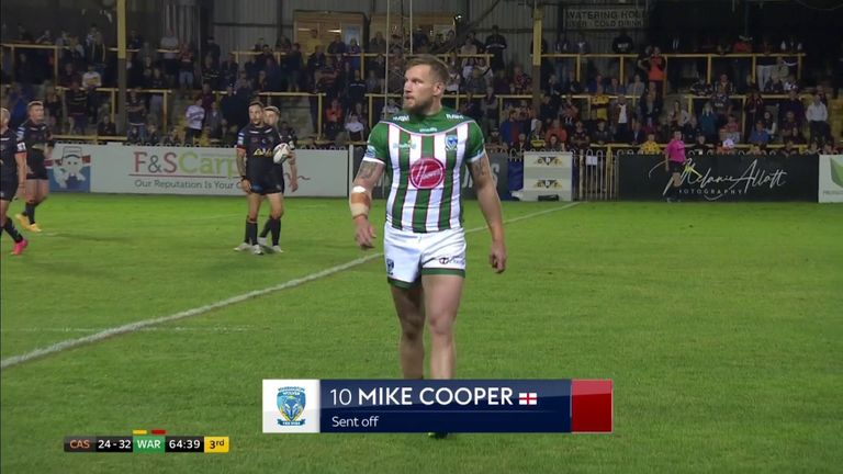 Mike Cooper was given his marching orders for this challenge on Liam Watts