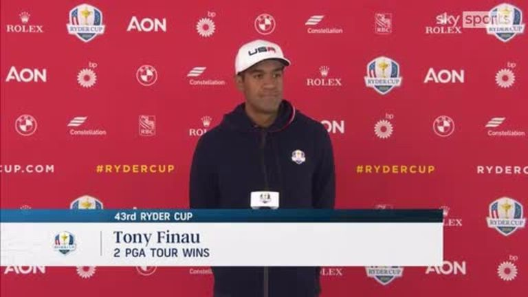 Tony Finau says camaraderie is a big thing for the Ryder Cup teams and he also stresses how much Team USA want to win for their captain Steve Stricker