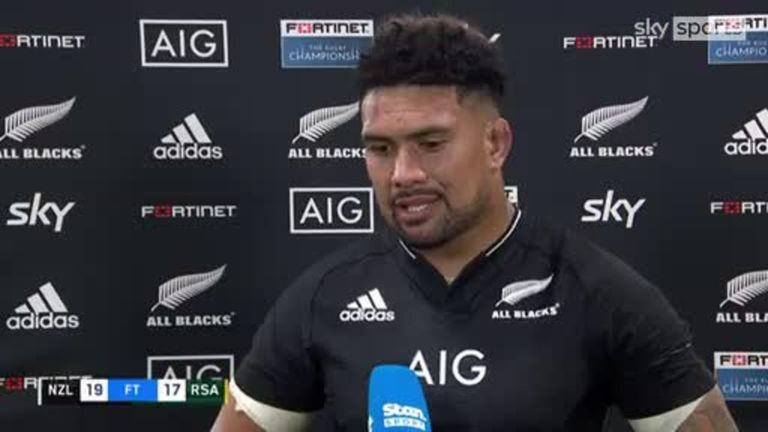 All Blacks captain Ardie Savea was relieved with the late win