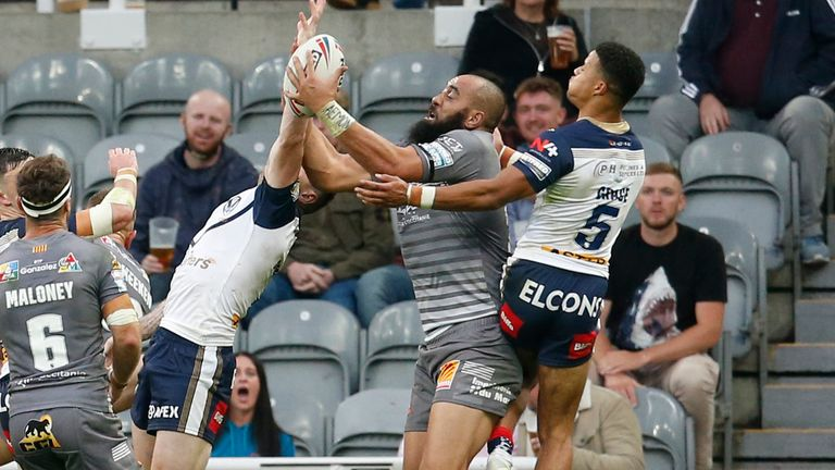 Sam Kasiano grabbed the ball to score and send the match to golden point