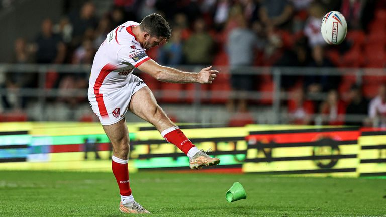 Saints full-back Lachlan Coote added six conversions with the boot in the hefty win