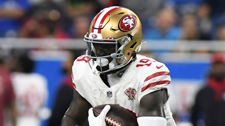 San Francisco 49ers wideout Deebo Samuel is the NFL's leading receiver through four weeks