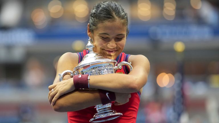 Raducanu didn't drop a single set throughout the tournament, to become Britain's first female Grand Slam winner for 44 years