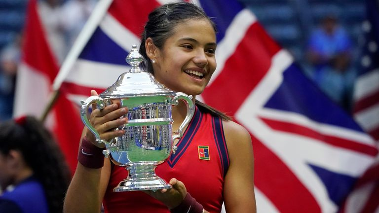 New US Open women's champion Emma Raducanu, 18, says she wants young children to be inspired by her win