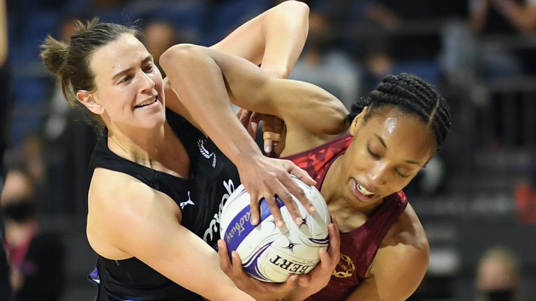 England's Vitality Roses won the deciding Test in New Zealand by four goals