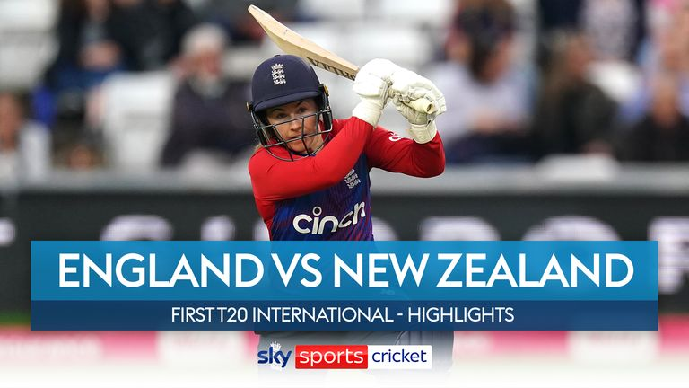 Tammy Beaumont produced a sensational innings to inspire England to an emphatic 46-run victory over New Zealand in the first T20 international at Chelmsford