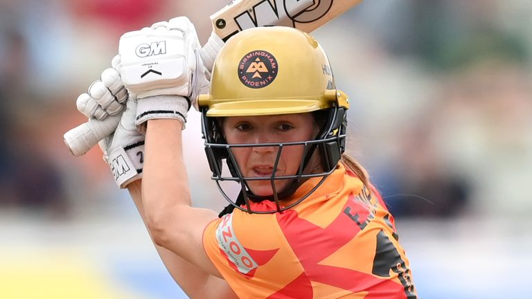 Eve Jones in action for Birmingham Phoenix during this summer's The Hundred